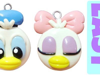 Kawaii Polymer Clay Charms | Donald Duck & Daisy Duck |