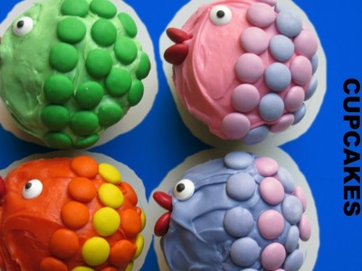 Make a RAINBOW FISH CUPCAKE-under the sea theme party- tutorial by Kids Creative Kitchen