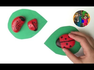 Making Ladybird Stones   by Red Ted and Pip