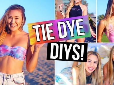 MUST TRY TIE DYE DIYS! Bikini, Shorts, T-Shirt & Room Decor! | LaurDIY