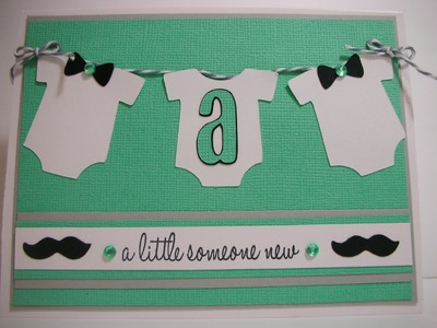 Mustache and Bow Tie baby boy card