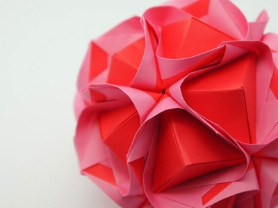 Origami Clover Kusudama (Maria Sinayskaya)