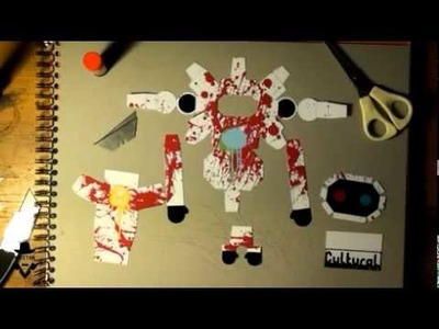 Paper toy time lapse