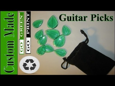 Plastic Melted Leaf Guitar Picks! How to Guide
