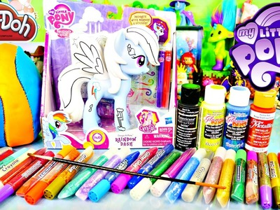 Play Doh Egg Surprise | Custom My Little Pony Rainbow Dash Design A Pony With DCTC