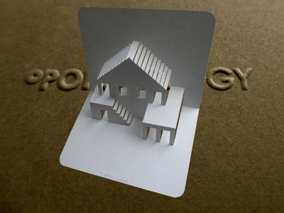 Pop Up House Card #3 Tutorial - Origamic Architecture