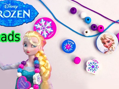 Queen ELSA Wooden Beads Disney Frozen Movie Wood Necklace Craft & Activity Book Playset Toy Unboxing