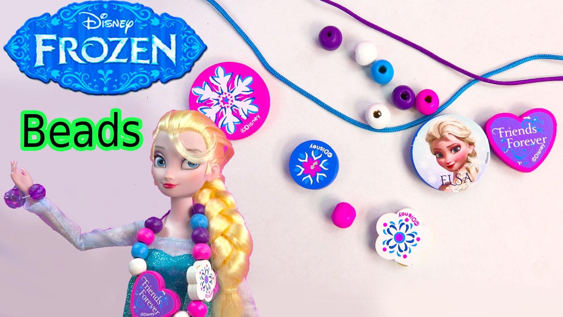 Queen ELSA Wooden Beads Disney Frozen Movie Wood Necklace Craft & Activity Book Playset Toy Unboxing