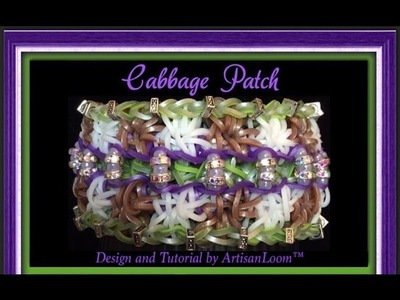 Rainbow Loom Band Cabbage Patch Bracelet Tutorial.How To