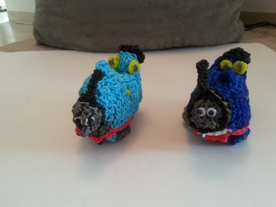 Rainbow Loom Double Loom 3D Thomas the Tank Engine Tutorial Part One of Two