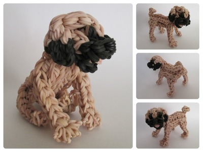 Rainbow Loom pug puppy Part 1.2 Loombicious