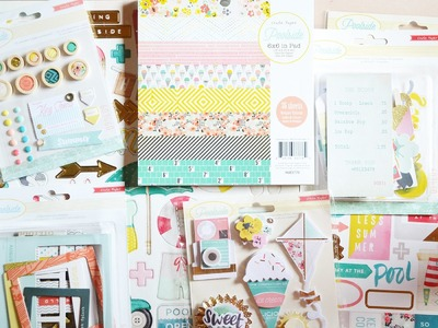 Scrobby Scrapbooking Haul: Crate Paper - Poolside (May 2015)