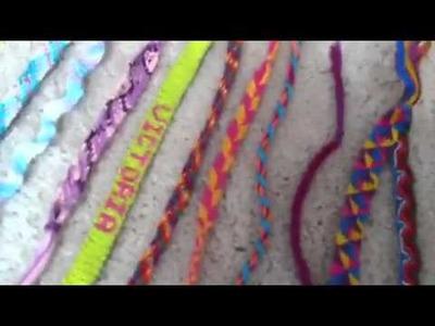 Updated Friendship Bracelet Collection!!!