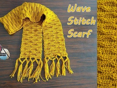 Wave Stitch Scarf - Crochet Tutorial