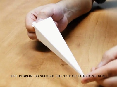Weddingstar - How To Fold Cone Boxes