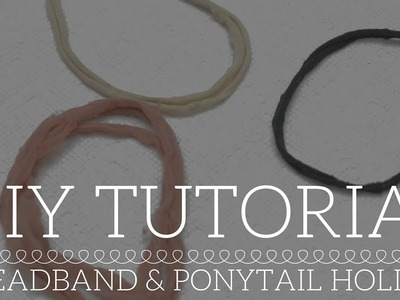 [11] DIY Headband & Ponytail Holder for Relaxed & Natural Hair