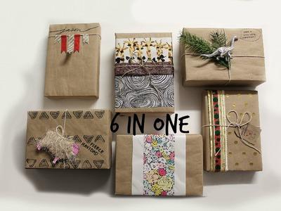 6 Kraft Wrapping Paper Ideas| 6 Ideas de Regalo Papel Kraft