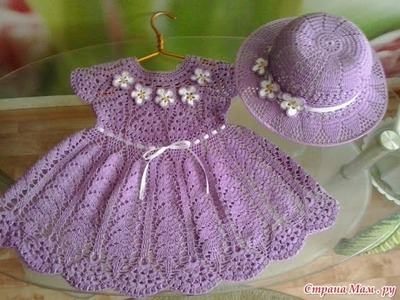 Crochet baby dress| How to crochet an easy shell stitch baby. girl's dress for beginners 180
