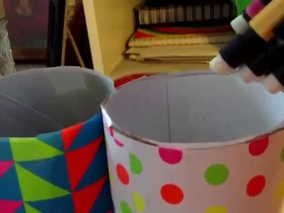 Cute & Easy DIY Pencil Holders out of Pringle Cans