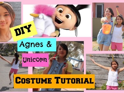 DIY Agnes and Unicorn from Despicable Me ; Costume, Hair and Makeup!