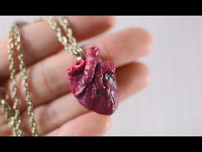 DIY Anatomical Human Heart Necklace - TUMBLR INSPIRED