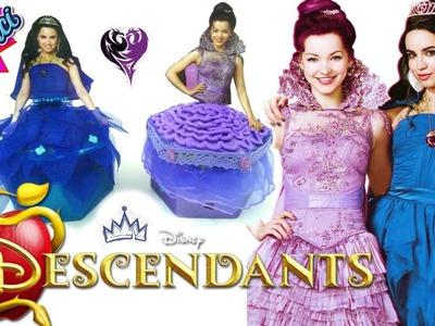 DIY Disney Descendants Mal & Evie Coronation Dress Doh Vinci Jewelry boxes, Descendientes