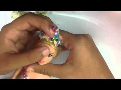 DIY doll Tiara ( not using paper )