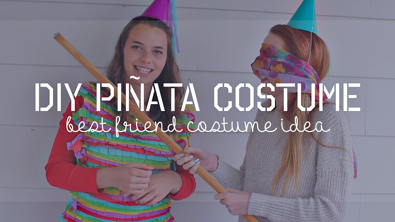DIY Piñata Costume!   Best Friend Costume Idea   #CraftingWithKRISAMMI