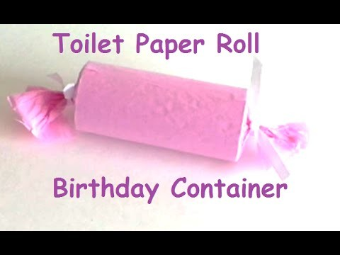{DIY} Toilet Paper Roll Present Container