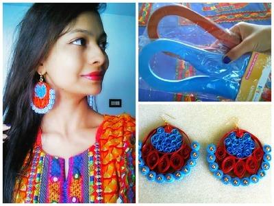DIY traditional paper earrings