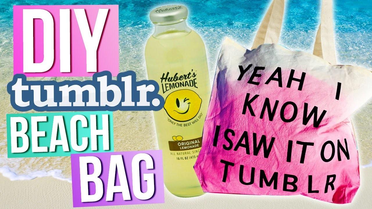 DIY TUMBLR Summer Beach Bag!