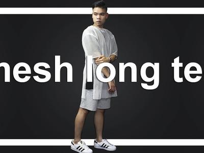 DIY: Unisex Mesh Long Tee + OOTD :)