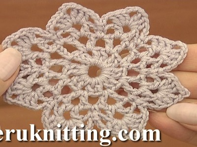 Easy to Crochet Round Motif Tutorial 12 Part 1 of 2