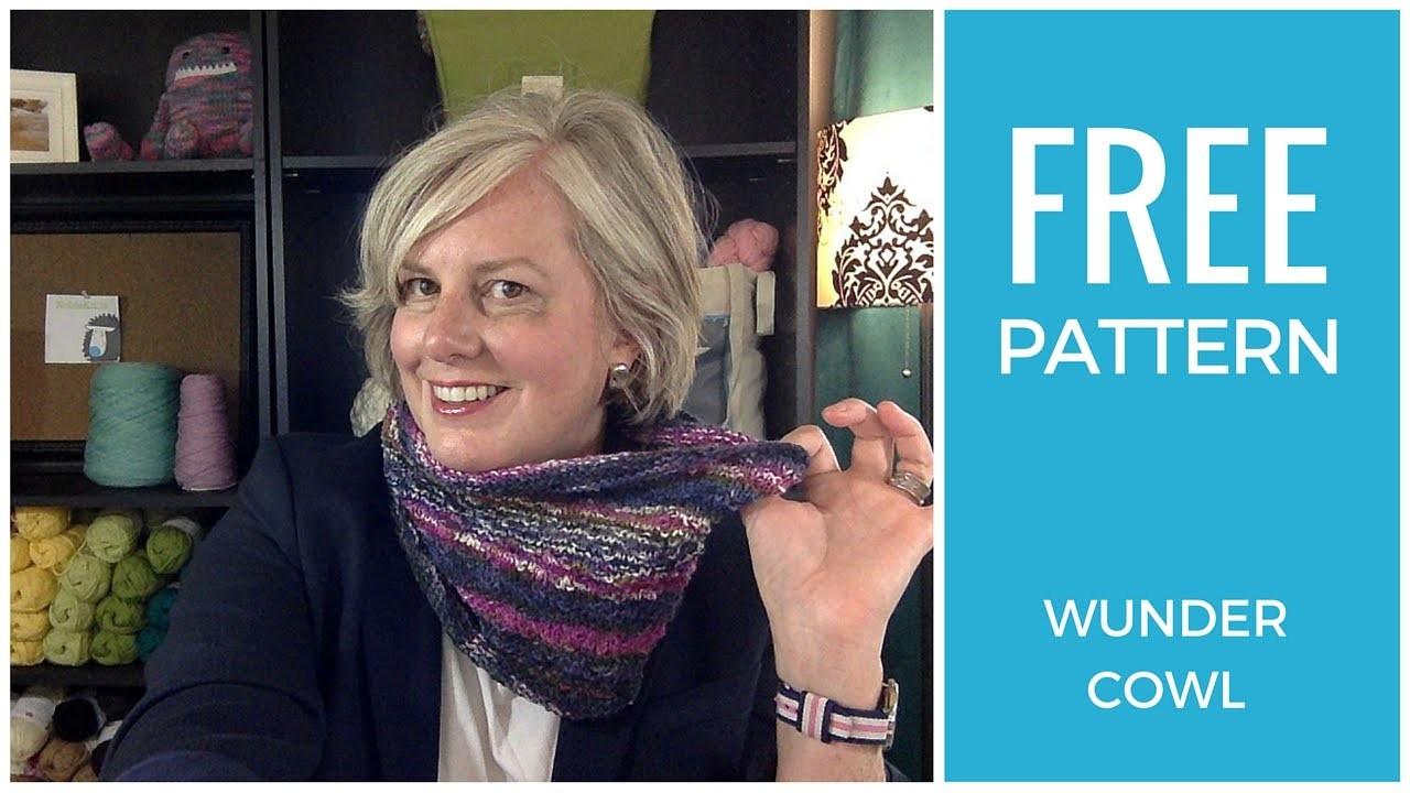 Easy! Wundercowl One Skein Free Knitting Pattern
