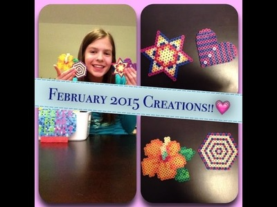 February 2015 Perler Bead Creations!!
