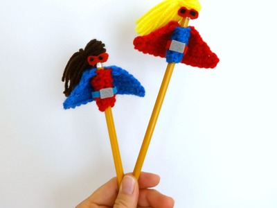 How To Crochet the Superhero Pencil Topper, Episode 234