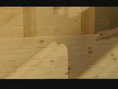 How to install knotty pine paneling