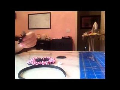 How to make a Chevron Print flower Headband