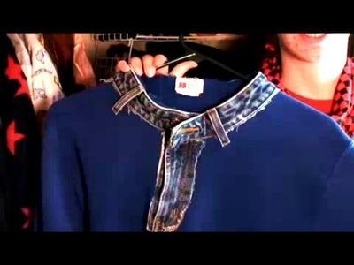 How to Make a Jean Collar Sweatshirt, Contest, Threadbanger