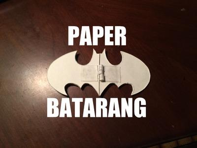 How To Make A Paper Batarangs (Fold and Lock!)