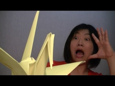 How to make a paper crane (tsuru) from origami paper