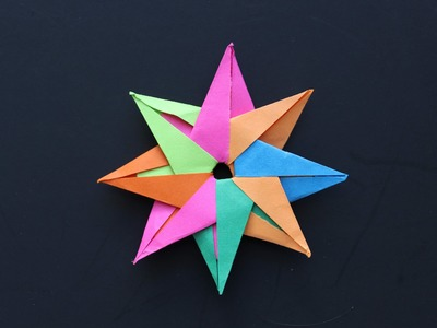 How to make a paper star: instruction| Star (8-color)