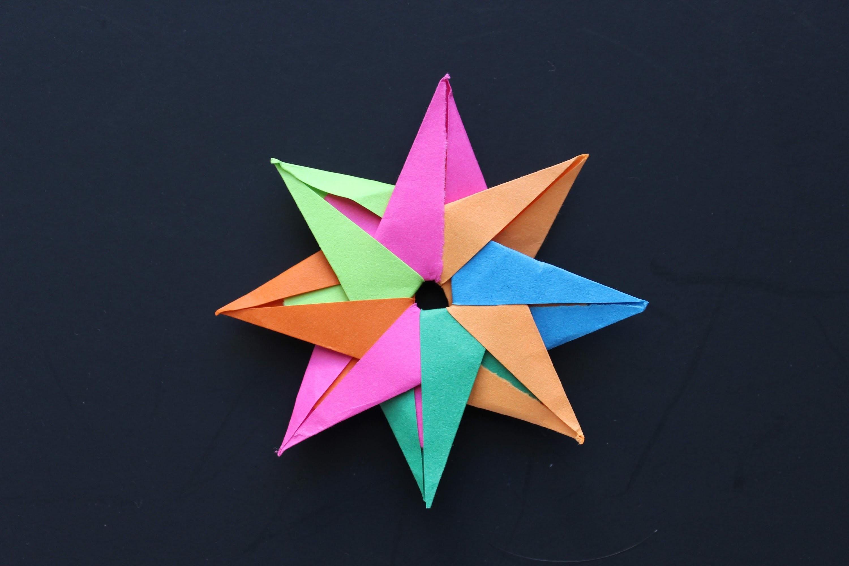 фото схема звезд из бумаги разве