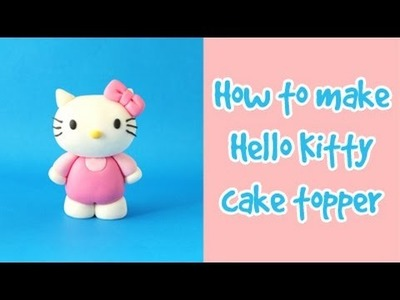 How to make Hello Kitty cake topper tutorial. Jak zrobić figurkę Hello Kitty z masy cukrowej