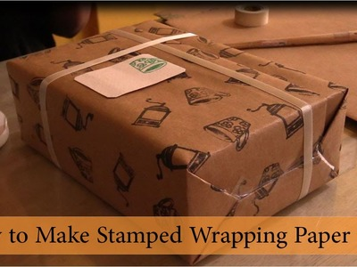 How to Make Stamped Wrapping Paper
