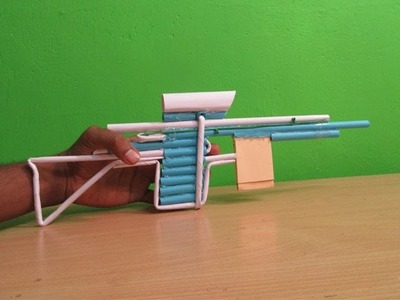 How to Maker s Paper Sniper Rifle that shoots Paper Bullet - Easy Tutorials