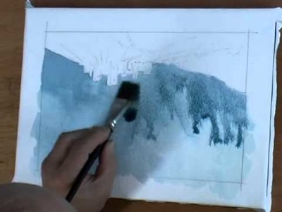 How To Paint A Stormy, Atmospheric Sky In Watercolors