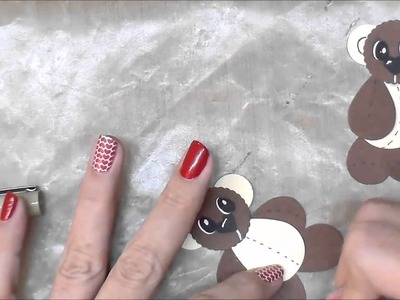 Justafew - How to make Paper Bears with a paper punch