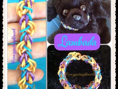Lambada bracelet tutorial (rainbow loom bands)