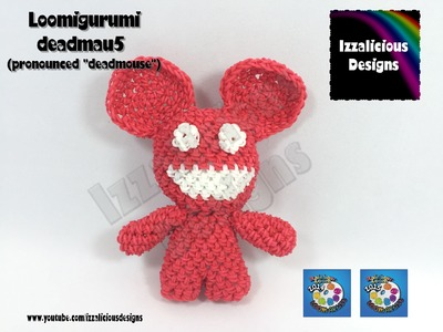 Loomigurumi Deadmau5 (Deadmouse) Tiny Tot Figure - hook only - amigurumi with Rainbow Loom Bands